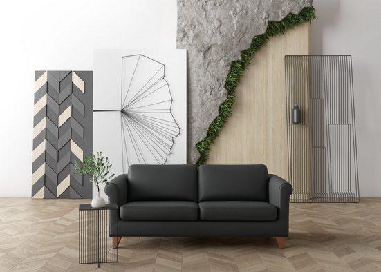 machalke® 2,5-Sitzer »amadeo«, Ledersofa mit geschwungenen Armlehnen, Breite 198 cm