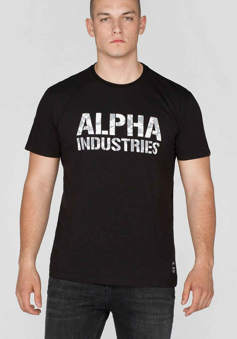 Alpha Industries Rundhalsshirt »CAMO PRINT T«