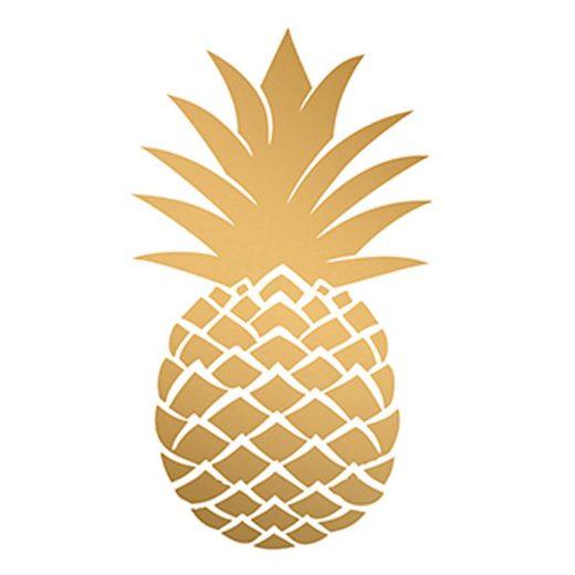 PPD Papierserviette »Golden Pineapple 20 Stück 33 cm«