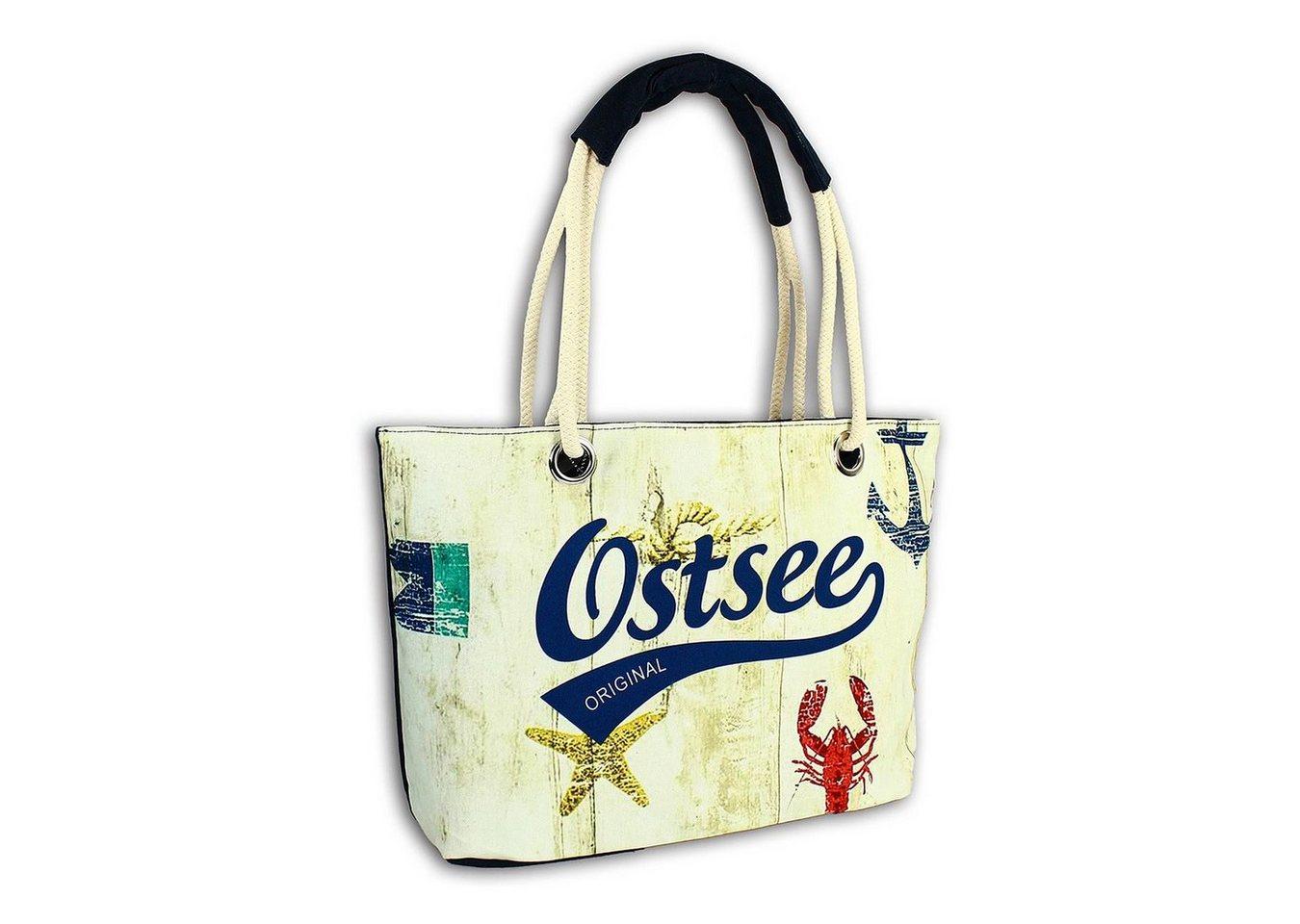 robin ruth -  Schultertasche »OTG2100F  Strandtasche Canvas mehrfarbig« (Strandtasche), Strandtasche, Schultertasche Baumwolle, Polyester, mehrfarbig ca. 47cm x ca. 29cm