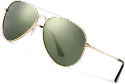 Luxear Sonnenbrille Luxear Sonnenbrille Herren Polarisiert Pilotenbrille, 2020 Trend Polarisierte Sonnenbrille Herren grün Fliegerbrille Männer 100% 400 UV Schutz
