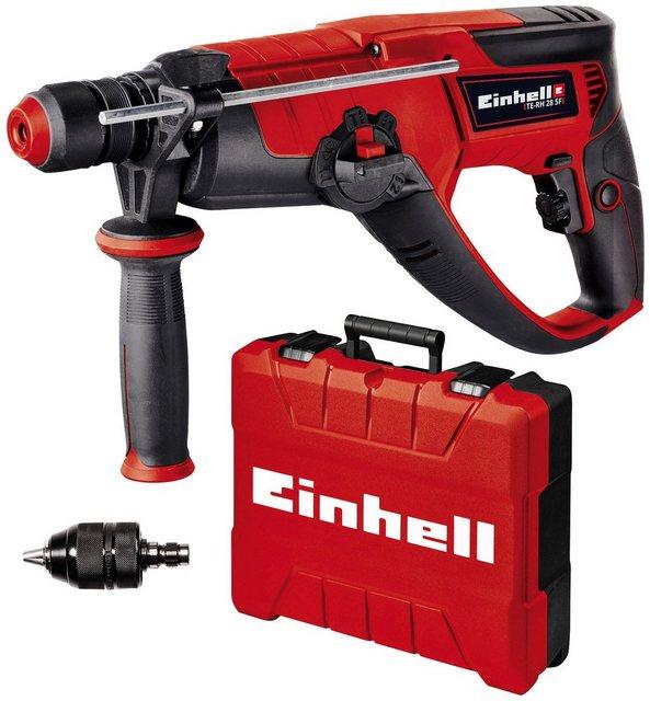 EINHELL Bohrhammer TE-RH 28 5F, inkl. Zusatzbohrfutter für Schrauben und Bohren, 950W
