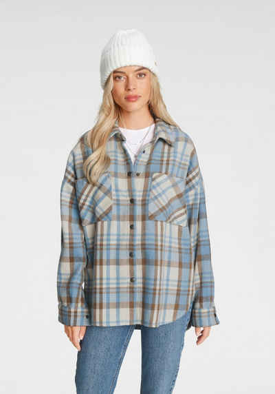 Only Hemdjacke »ONLPIA L/S PLAIDED SHIRT« in Oversize Form
