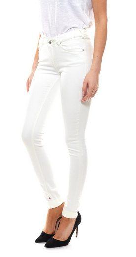 Scotch & Soda Regular-fit-Jeans »SCOTCH & SODA 5-Pocket-Jeans schlichte Damen Baumwoll-Hose Skinny-Jeans mit kleinen Strickereien Weiß«