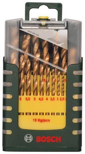 BOSCH Metallbohrer »HSS-TiN«, (Set, 19-tlg)