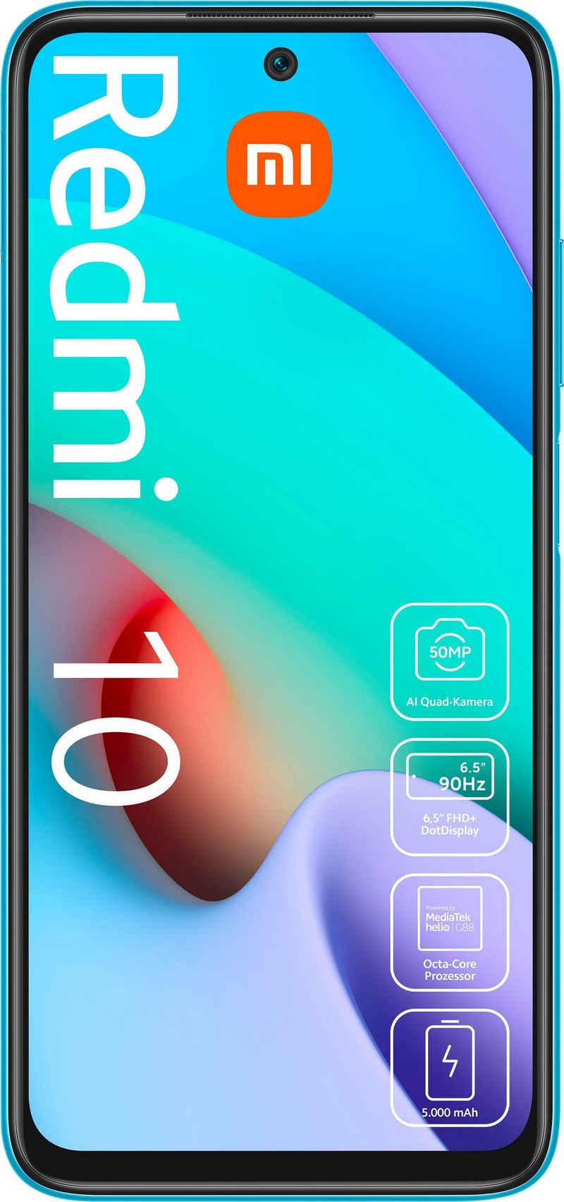 Xiaomi Redmi 10 4GB+128GB Smartphone (16,51 cm/6,5 Zoll, 128 GB Speicherplatz, 50 MP Kamera)