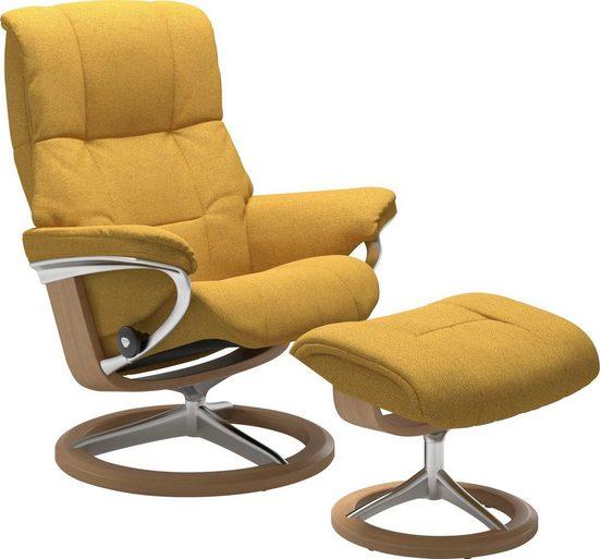 Stressless® Relaxsessel »Mayfair« (Set, 2-tlg., Relaxsessel mit Hocker), mit Hocker, mit Signature Base, Größe S, M & L, Gestell Eiche