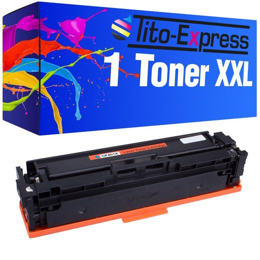 Tito-Express PlatinumSerie Tonerpatrone »ersetzt HP CF401X CF401 X 201X Cyan«