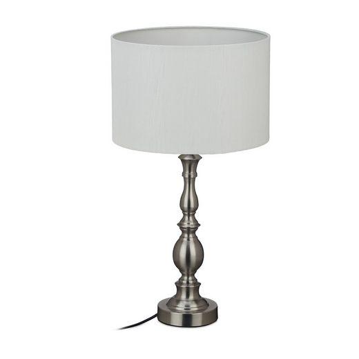 relaxdays Tischleuchte »Tischlampe Stoffschirm«