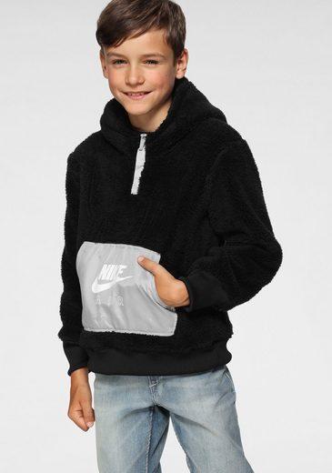 Nike Sportswear Fleecepullover »BOYS NIKE AIR SHERPA HALZIP HOODIE«
