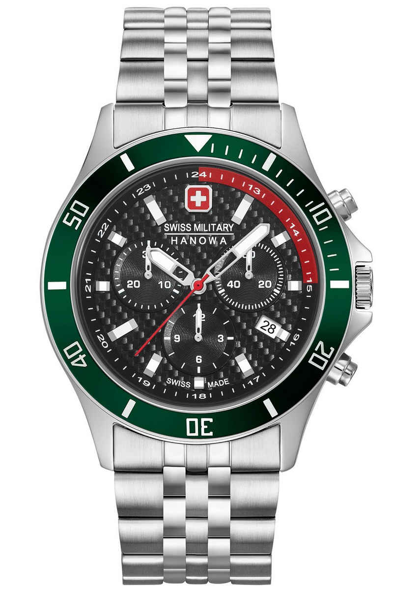 Swiss Military Hanowa Chronograph »Flagship Racer Chrono Edelstahl-Armband«