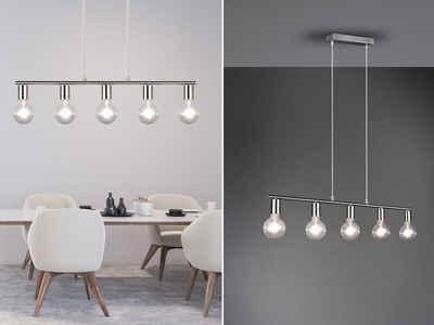 meineWunschleuchte LED Pendelleuchte, Industrial Style Balken-Pendel, dimmbare Designer-Lampe, mehrflammig für über Esszimmer-Tisch, Esstisch, Küchen-Lampe hängend