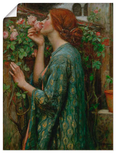 Artland Wandbild »Die Seele der Rose«, Frau (1 Stück), in vielen Größen & Produktarten -Leinwandbild, Poster, Wandaufkleber / Wandtattoo auch für Badezimmer geeignet