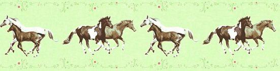 living walls Bordüre »Little Stars«, glatt, Borte mit Pferden Kinderzimmer, Vlies, PVC-frei