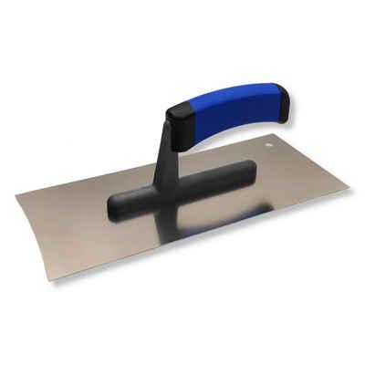 DEWEPRO Glättekelle »Trockenbau Glättekelle mit 2 konkaven Seiten - Glättkelle - Spachtel - Glattkelle für den Trockenbau - Traufel mit Edelstahlblatt - 280x120 mm«