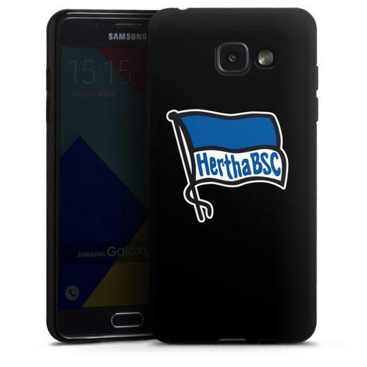 DeinDesign Handyhülle »Hertha BSC schwarz« Samsung Galaxy A5 (2016), Hülle Hertha BSC Fußball Offizielles Lizenzprodukt