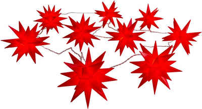 näve LED-Lichterkette »9er-Outdoor-LED-Weihnachtslichterkette 3D-Sterne je 12x9x10,5 cm«, 3D-Stern