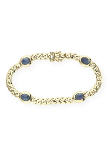 JuwelmaLux Armband »Armband 585/000 (14 Karat) Gold mit Saphire«