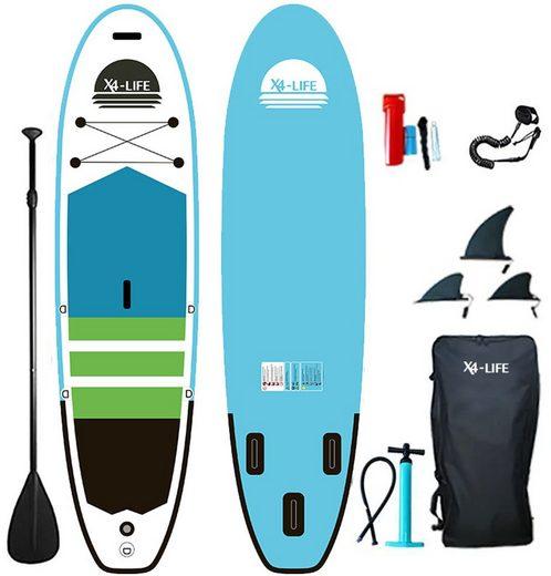 X4-Life SUP-Board »Stand Up Paddle Board mit Zubehör«, (Set, 9 tlg., mit Paddel, Pumpe und Transportrucksack)