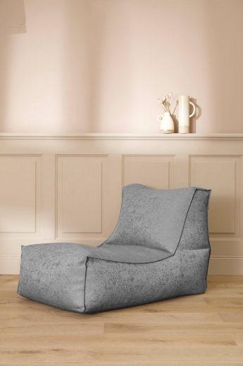 mokebo Sitzsack »Der Sundowner«, Indoor Bean Bag, kleine Liege & Relaxliege, verschiedene Farben & optional mit Hocker