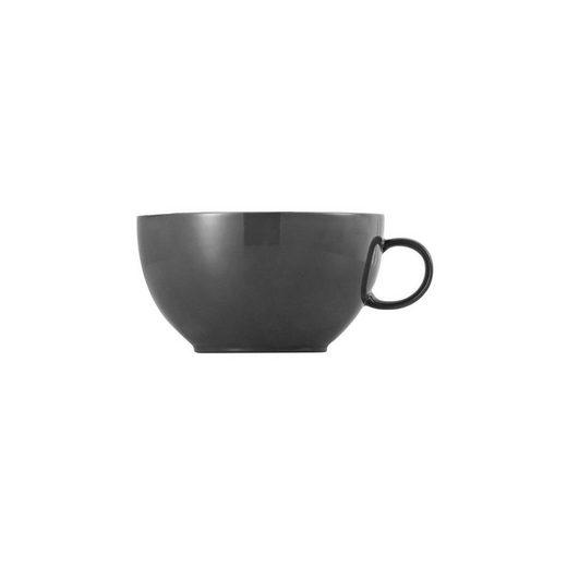 Thomas Porzellan Cappuccinotasse »Sunny Day Grey Cappuccino-Obertasse«, Porzellan