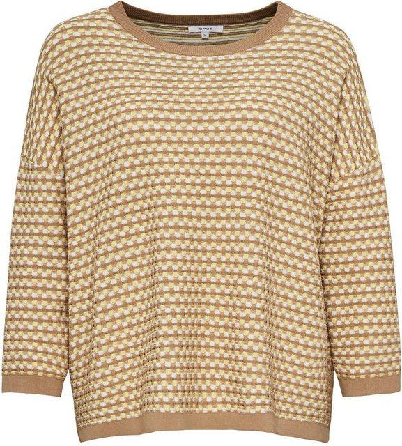 OPUS 3/4 Arm-Pullover »Pottune« im besonderen Strickmuster   Bekleidung > Pullover   Opus