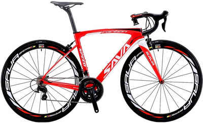 SAVA Rennrad »SAVA Herd6.0 Carbon Rennrad mit Shimano 105 R7000«, 22 Gang