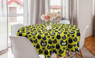 Gelber Vogel Outdoor-Tischdecke Enten und Tupfen