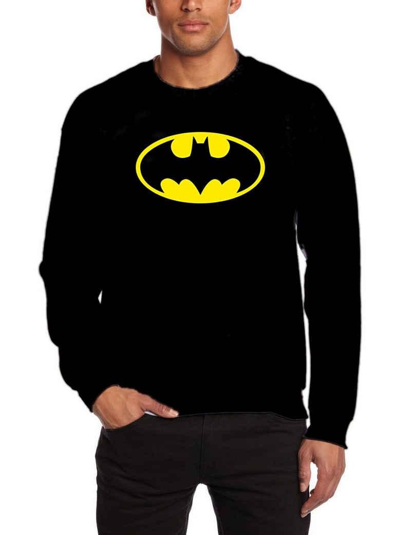 Batman Sweatshirt »BATMAN Sweatshirt LOGO schwarz S M L XL XXL Pullover Erwachsene + Jugendliche«