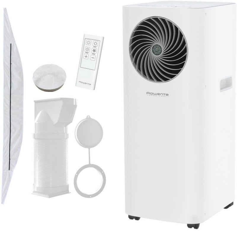 Rowenta 3-in-1-Klimagerät AU5020F0, Mobile Klimaanlage, Ventilator, Luftentfeuchter in Einem; Fensterdichtung, Schlauch & Fernbedienung inklusive; Eco-Modus