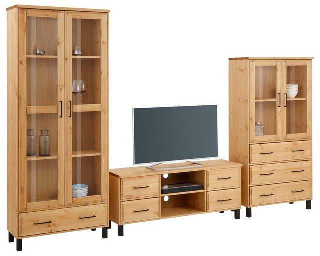 Wohnwände - Home affaire Wohnzimmer Set »Kemi«, (Set, 3 St), mit viel Ausdruck  - Onlineshop OTTO