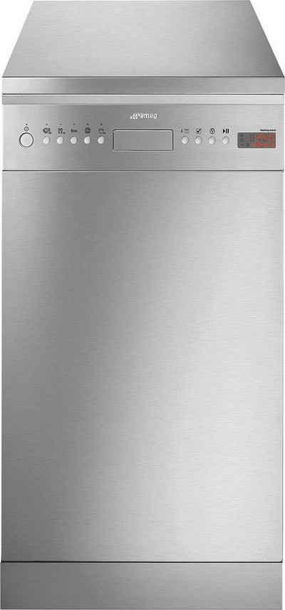 Smeg Standgeschirrspüler, LSA4525XIN, 9,5 l, 10 Maßgedecke