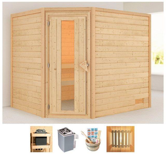 KARIBU Sauna »Lisa«| 231x196x198 cm| 9 kW Ofen mit int. Steuerung| Energiespartür | Bad > Sauna & Zubehör > Saunen | Karibu