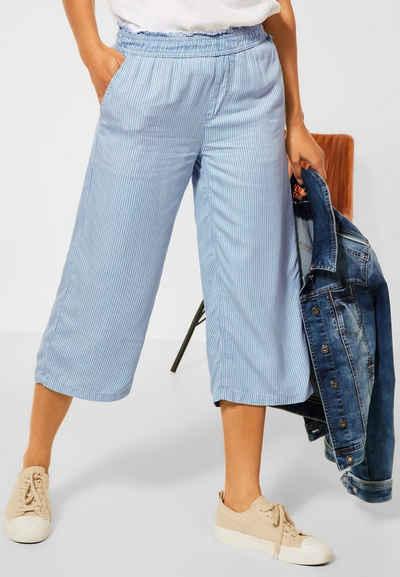 STREET ONE Loose-fit-Jeans mit Streifen