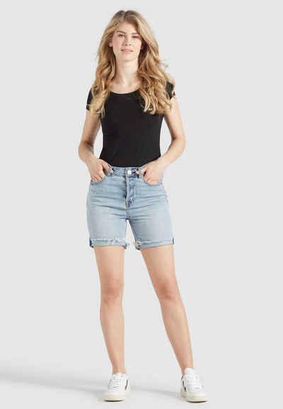 khujo Shorts »ROSANNA« (1-tlg) aus Baumwolle im Regular Fit mit Mid Waist