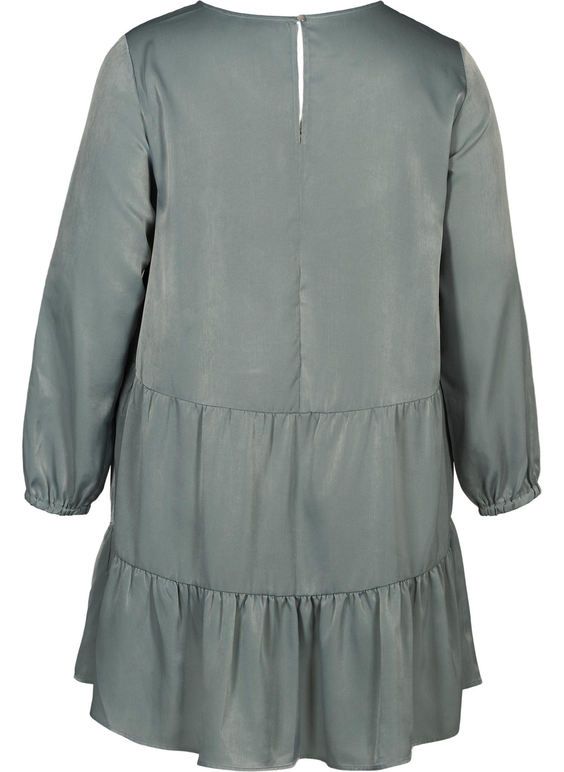 Zizzi Abendkleid Große Größen Damen Shiny Kleid Mit Teilungsnaht Online Kaufen