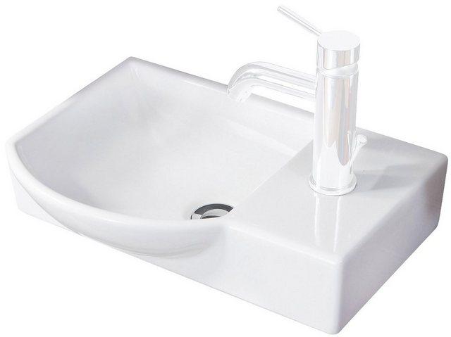 Fackelmann Gäste-WC-Keramikbecken Sceno Weiß