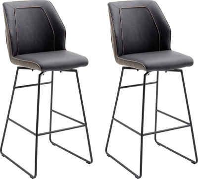 MCA furniture Barhocker »Aberdeen« (Set, 2 St., 2-er), Barstuhl im Materialmix, Barstuhl bis 120 Kg belastbar