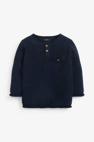 Next Strickpullover »Pullover mit Knopfleiste« (1-tlg)