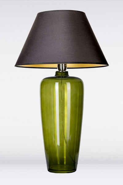 Signature Home Collection Tischleuchte »Tischlampe aus Glas mit Lampenschirm schmal«, Glaslampe mundgeblasen