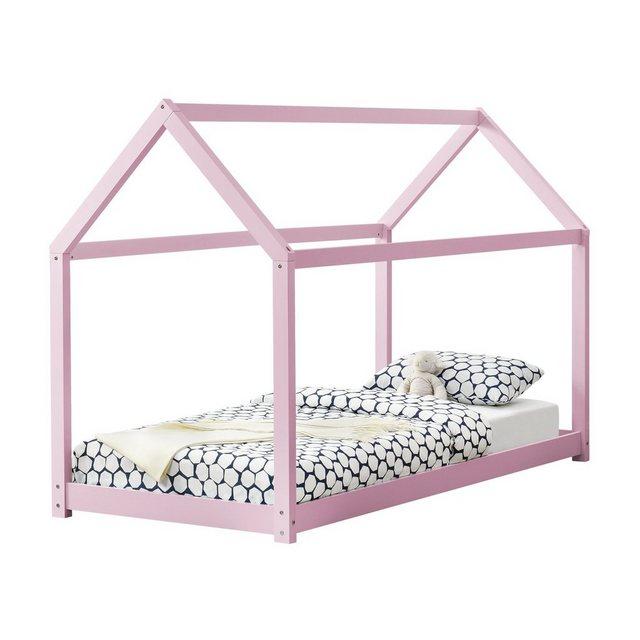 Kinderbetten - en.casa Kinderbett, Kinderbett 90x200cm Haus Holz Rosa Bettenhaus Hausbett Kinder Bett »  - Onlineshop OTTO