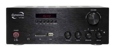 Dynavox »VT-80« Vollverstärker (Anzahl Kanäle: 4-Kanal, 160 W, 160 W, schraubbare Anschluss-Terminals für 4 Lautsprecher, Fernbedienung für Digital-Eingänge (USB, SD-Card), Streaming per Bluetooth)