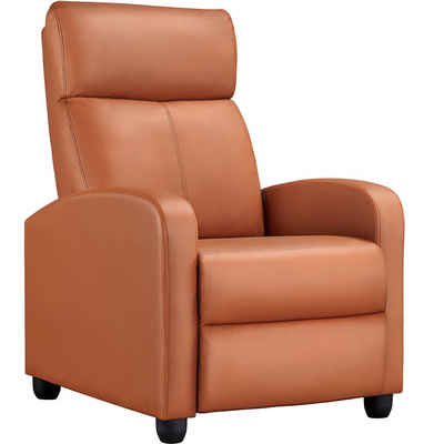 Yaheetech Relaxsessel, Ruhesessel Fernsehsessel Cinemasessel Sofa Recliner Einzelsofa TV Hocker Sofa Bein-Ablage Kunstleder