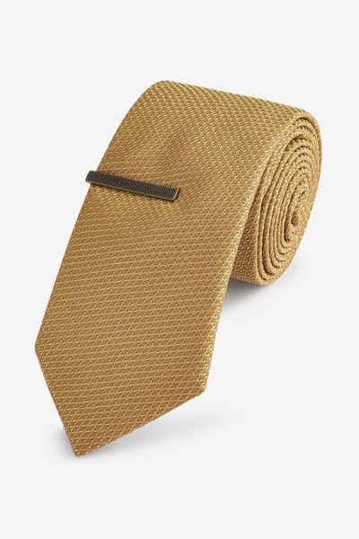 Next Krawatte »Set mit strukturierter Krawatte und Krawattennadel« (2-St)