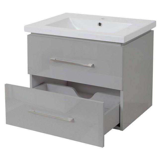 Waschtische - MCW Waschtisch »MCW D16«, Soft Close System, Zur Wandmontage, Inkl. Aussparung für Siphon  - Onlineshop OTTO