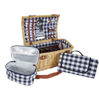 MCW Picknickkorb »MCW-B23«, Kühltasche und Picknickdecke mit Tragegriff
