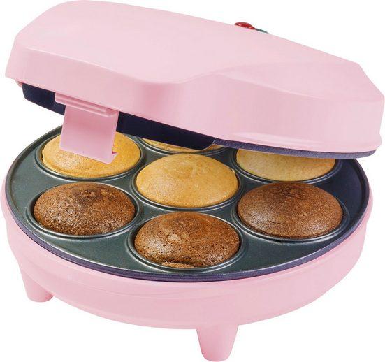 bestron Cupcake-Maker Sweet Dreams, 700 W, im Retro Design, Antihaftbeschichtung, Farbe: Rosa