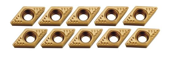 PROXXON HM-Wendeplatten »für die Stahlhaltersätze-Nr. 24555 und 24556«, (10 Stk.)