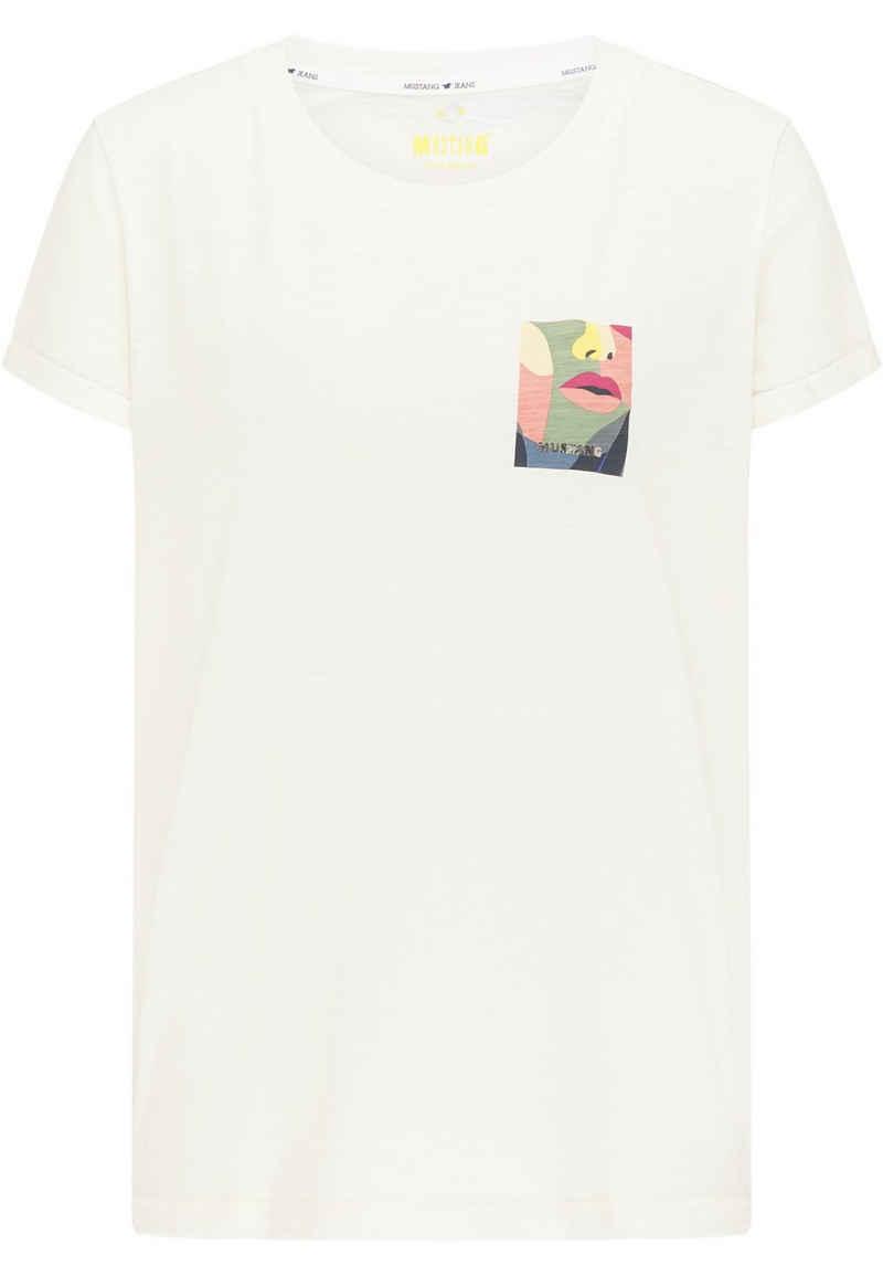 MUSTANG T-Shirt »Alina C Print« kurzarm