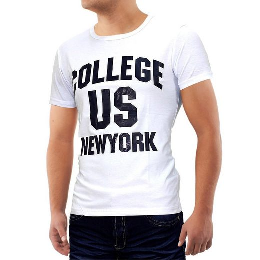 Egomaxx T-Shirt »681« T-Shirt Kabeen US College